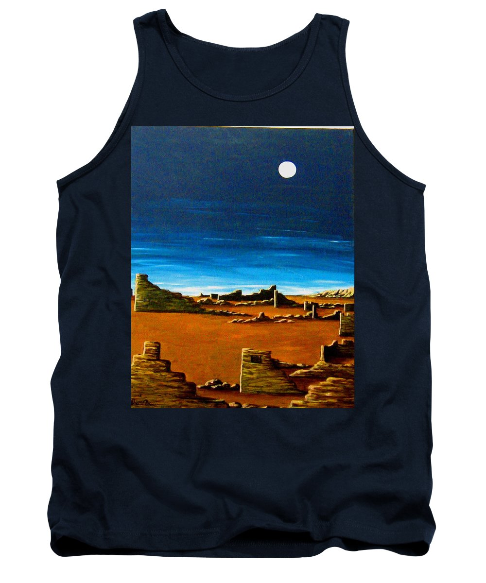Anasazi Tank Top featuring the painting Timeless by Diana Dearen