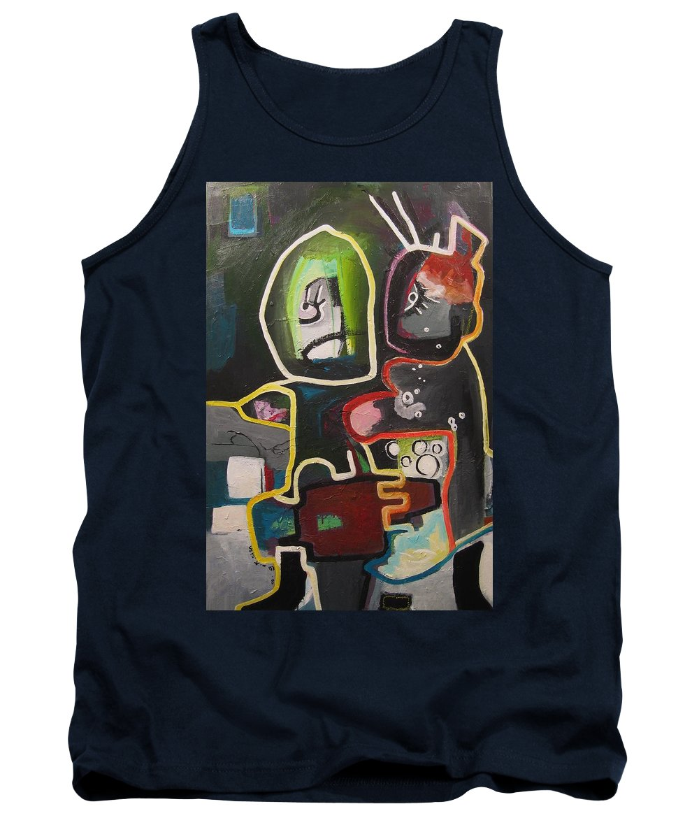 Couple Paintings Tank Top featuring the painting To Get Along by Seon-Jeong Kim