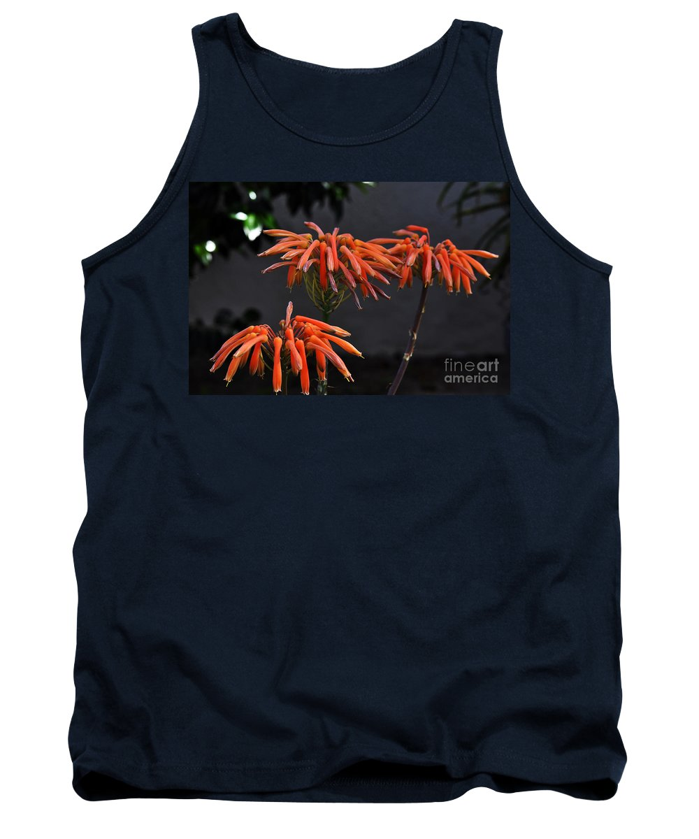 Clay Tank Top featuring the photograph Top Of Aloe Vera by Clayton Bruster