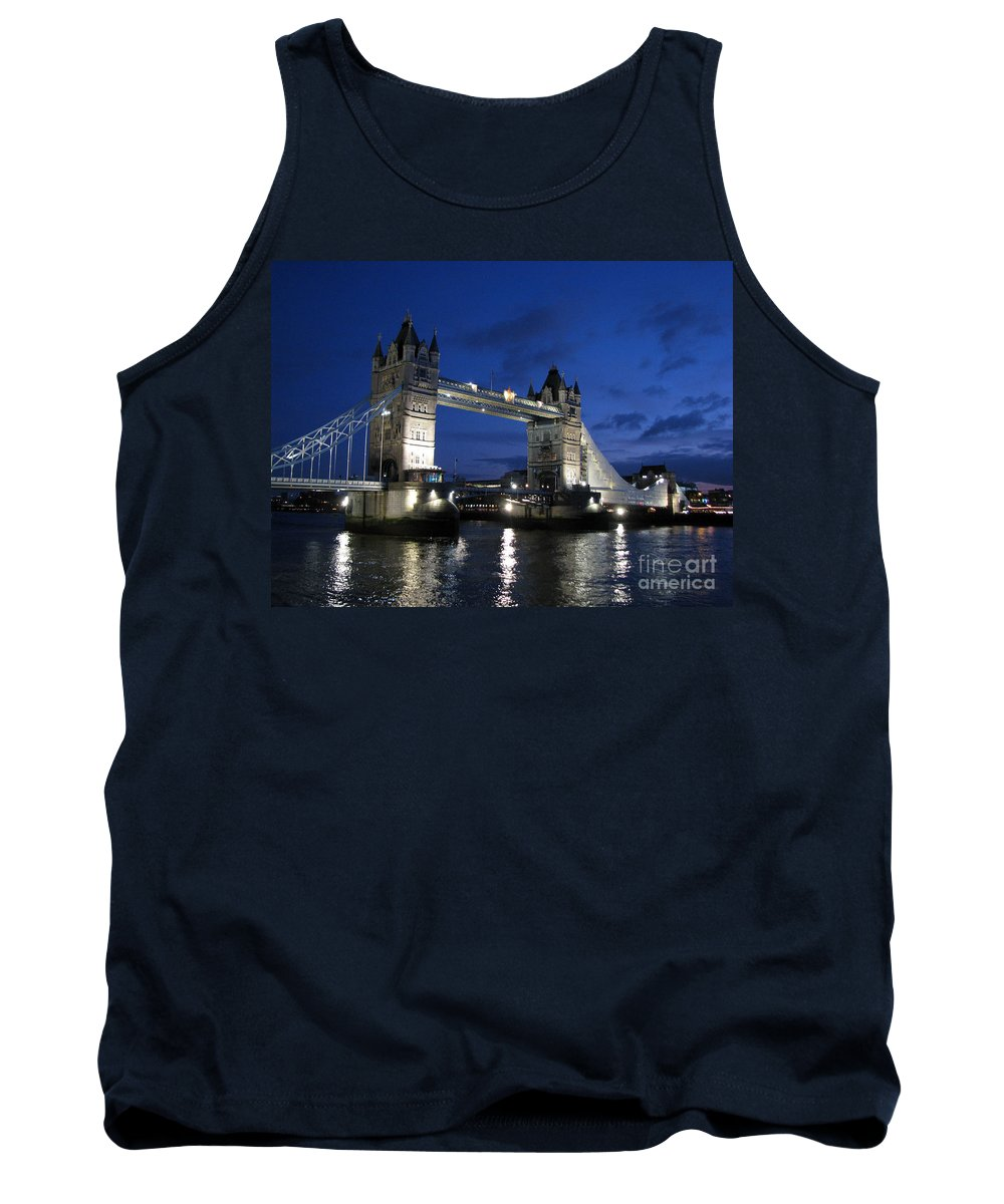 London Tank Top featuring the photograph Tower Bridge by Amanda Barcon