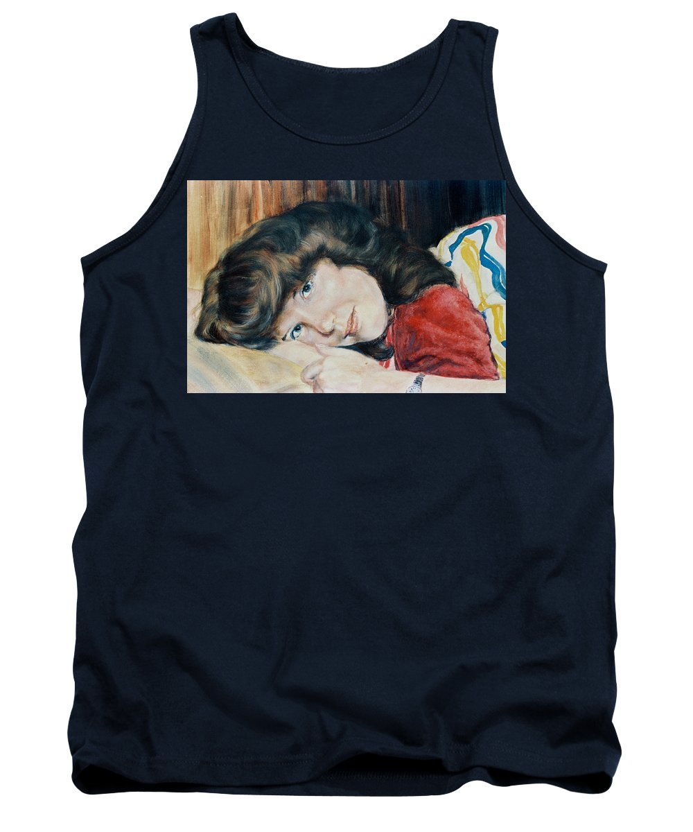Girl Tank Top featuring the painting Tracy by Bryan Bustard