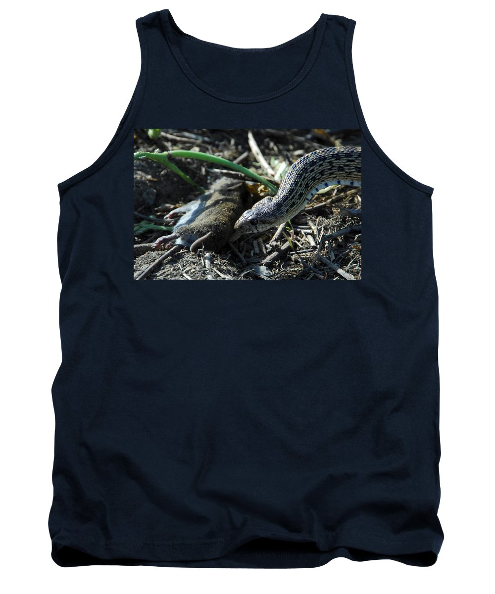 Snake Tank Top featuring the photograph Tragedy by Donna Blackhall