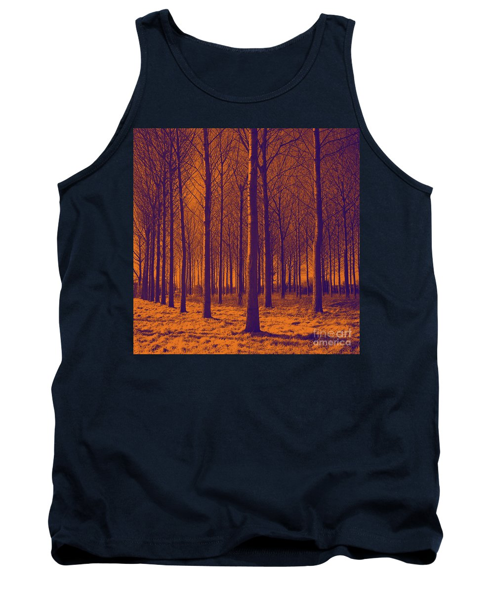 Painting Tank Top featuring the painting Tree Art 56y by Gull G