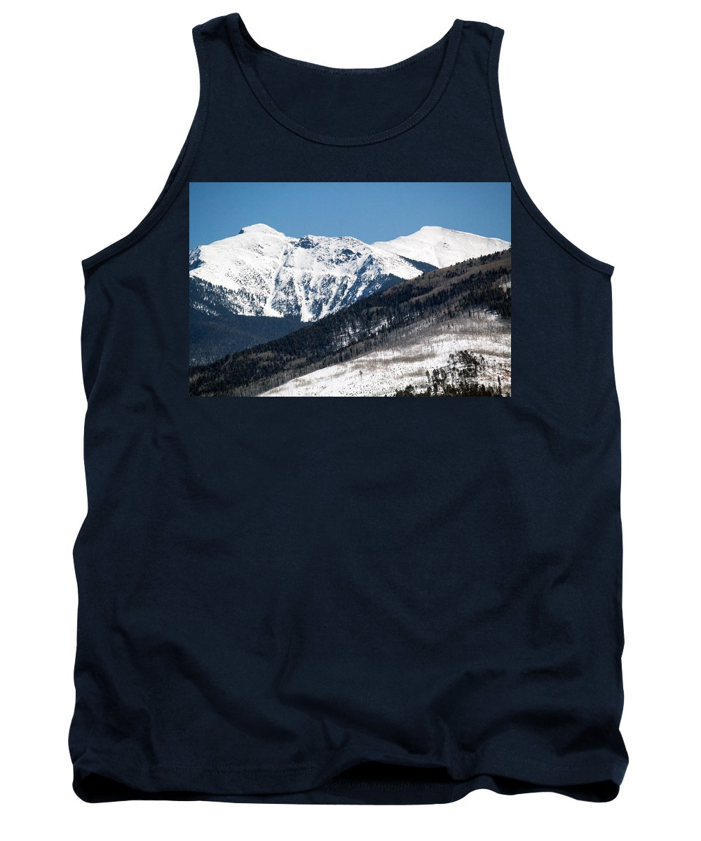 Roselynne Bowie Broussard Tank Top featuring the photograph Truchas Peak by Roselynne Broussard