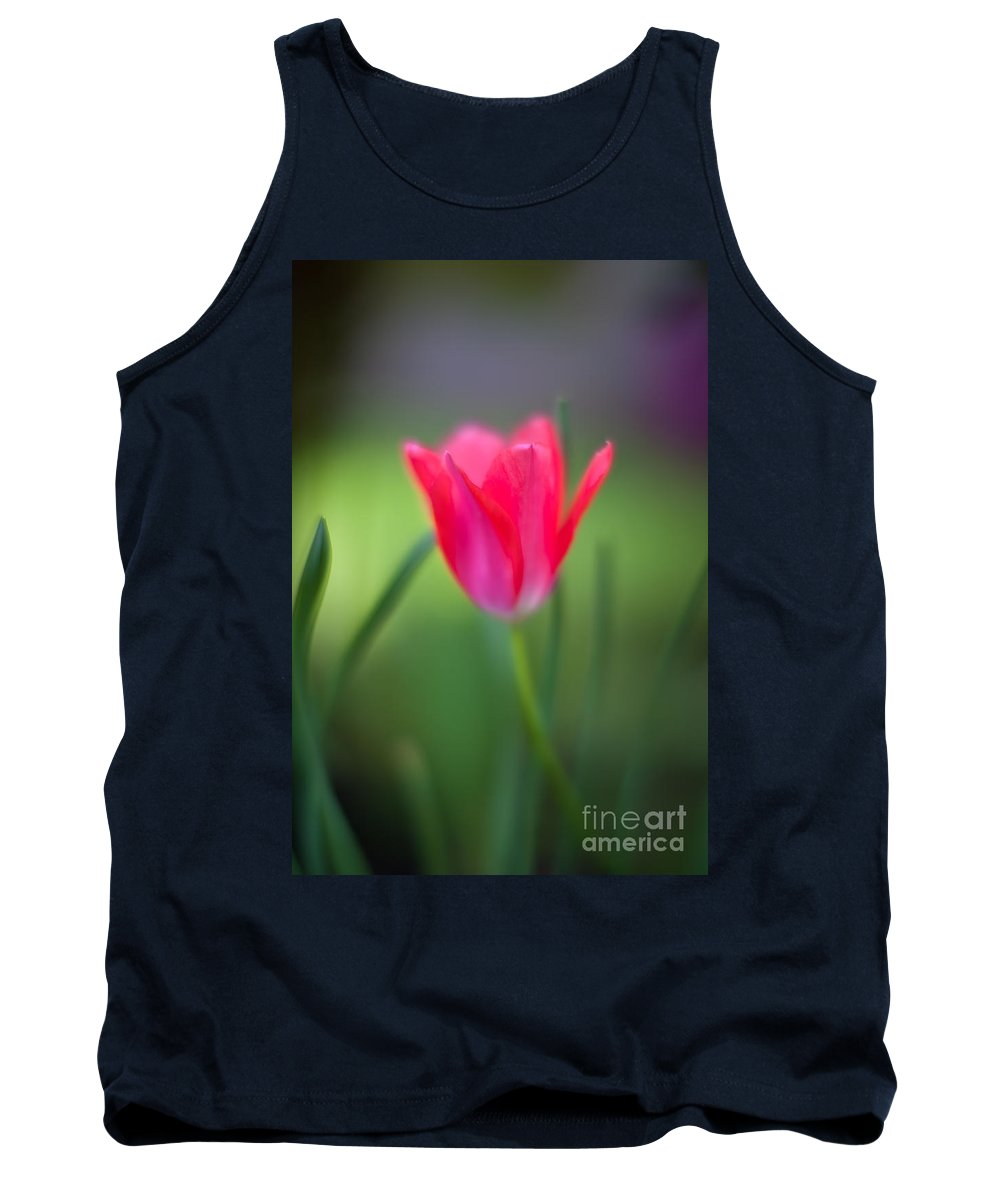 Tulip Tank Top featuring the photograph Tulip Amongst by Mike Reid