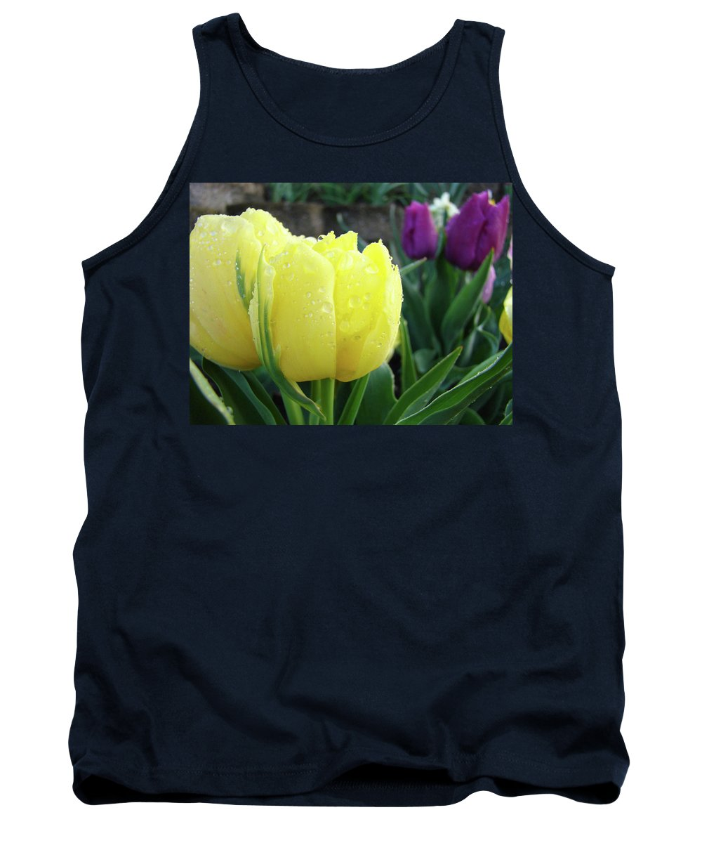 �tulips Artwork� Tank Top featuring the photograph Tulip Flowers Artwork Tulips Art Prints 10 Floral Art Gardens Baslee Troutman by Baslee Troutman