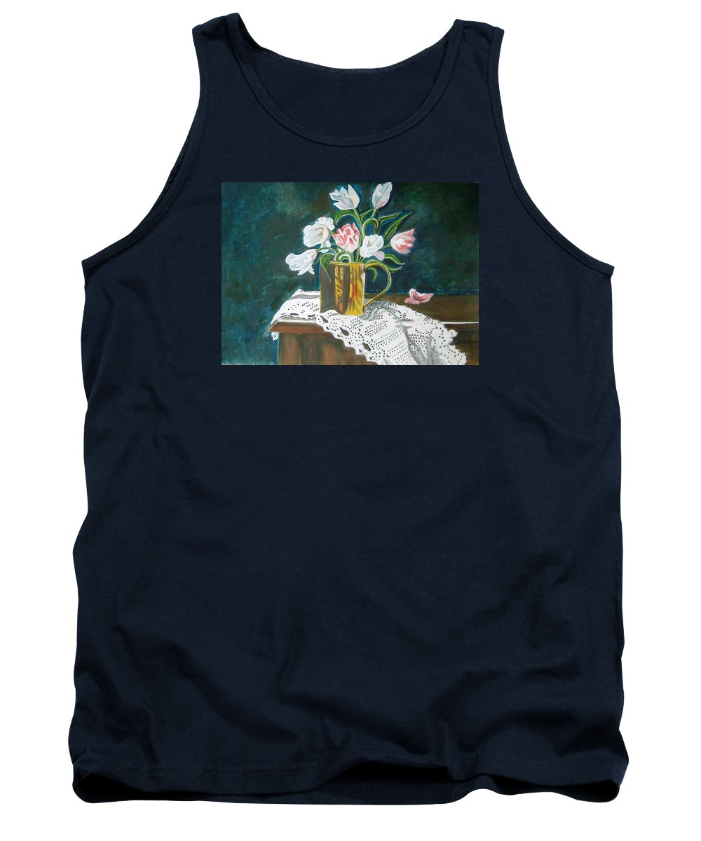 Tulips Tank Top featuring the painting Tulips by Manjiri Kanvinde