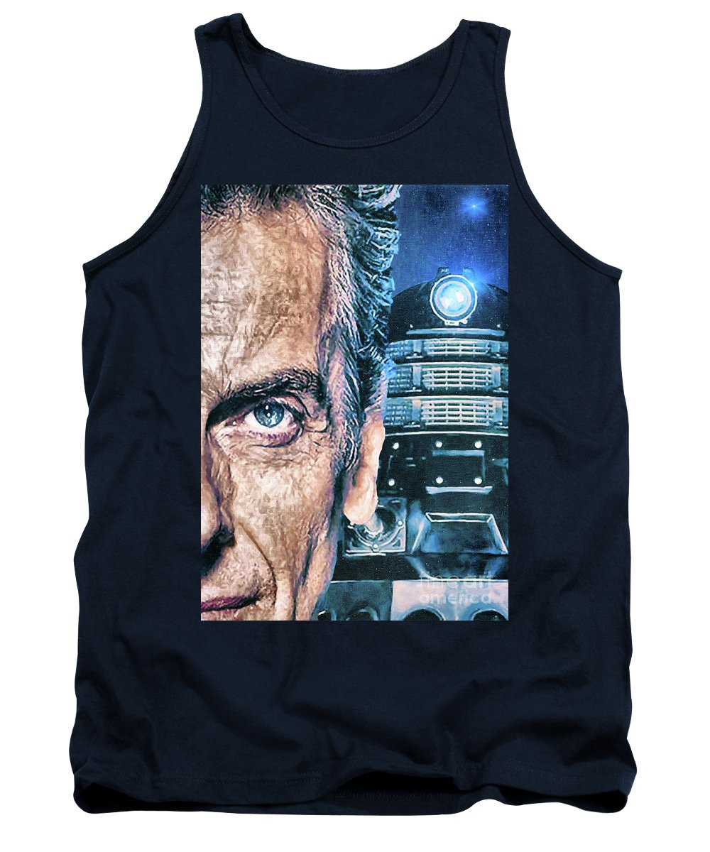 Doctor Who Tank Top featuring the digital art Twelve In Trouble by Robert Radmore