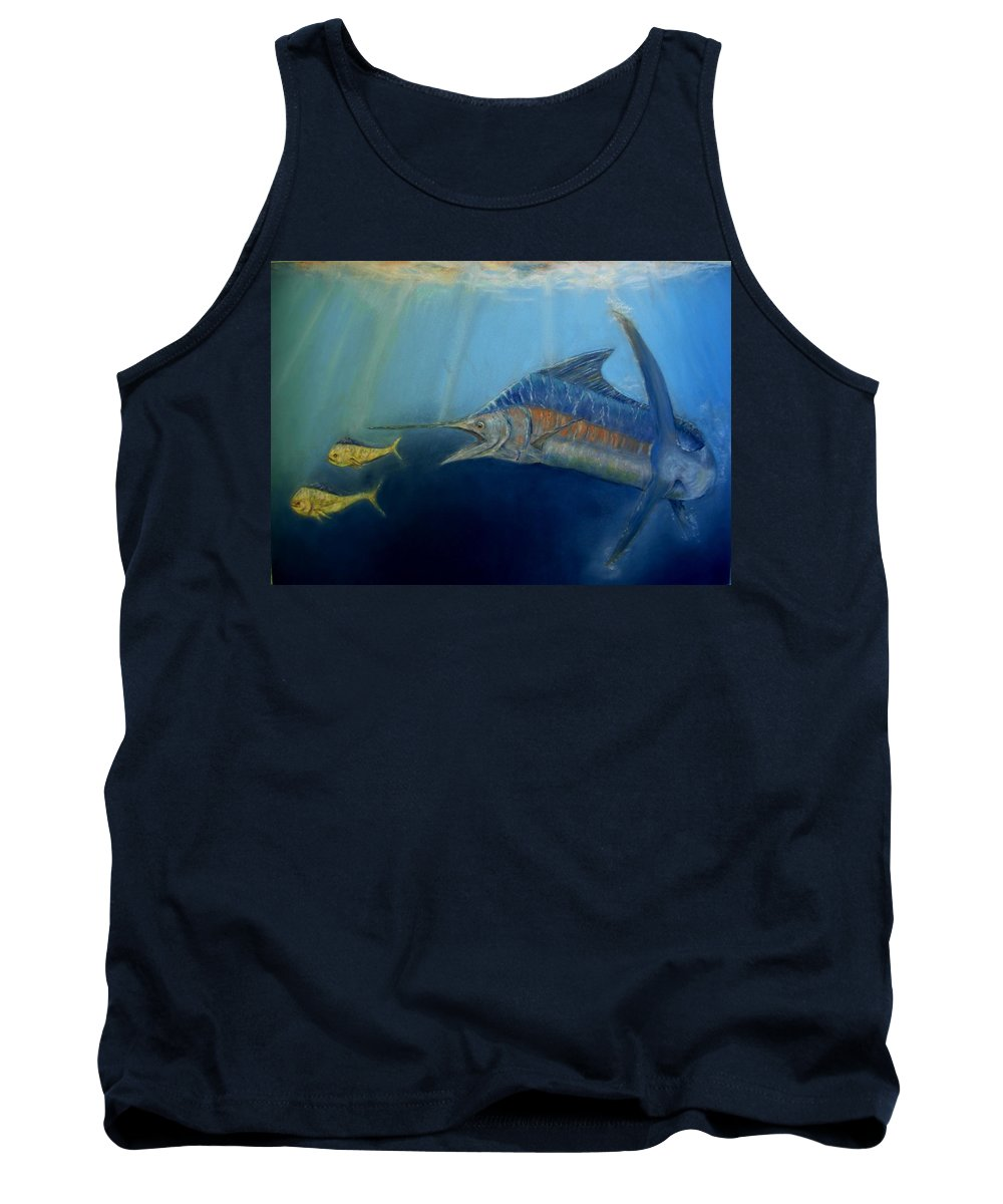 Marine Wildlife Tank Top featuring the pastel Two For Lunch by Ceci Watson