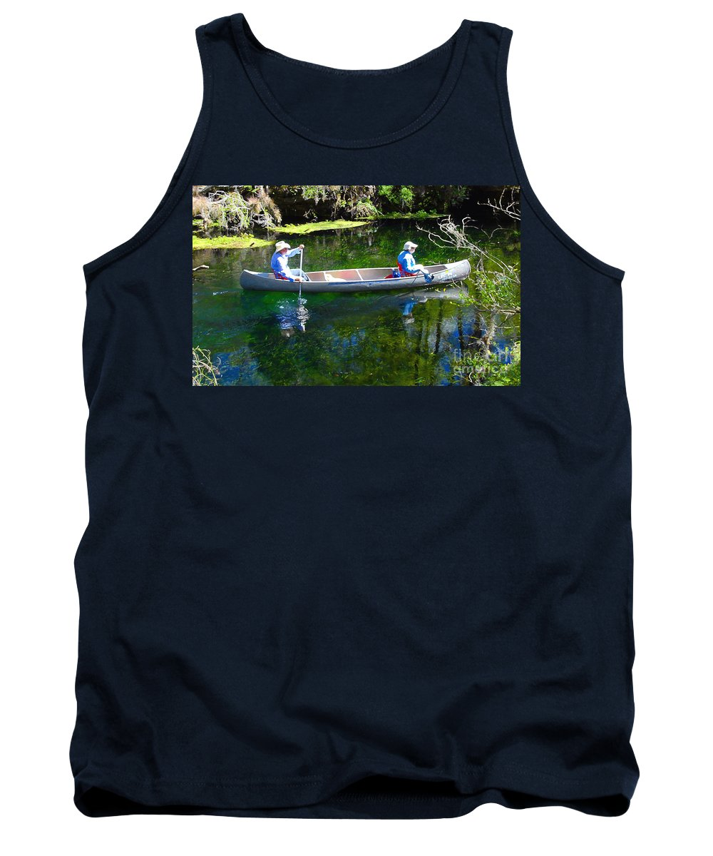 Canoe Tank Top featuring the photograph Two In A Canoe by David Lee Thompson