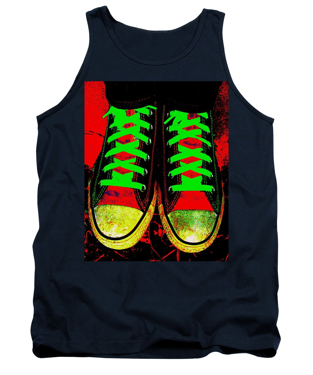 Still Life Tank Top featuring the photograph Two Left Feet by Ed Smith