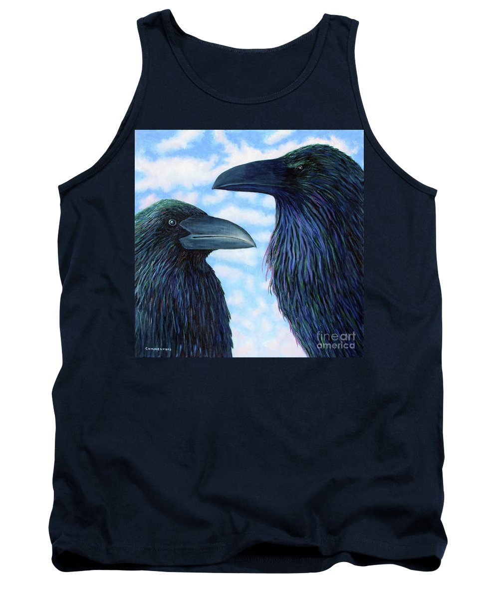 Raven Tank Top featuring the painting Two Ravens by Brian Commerford