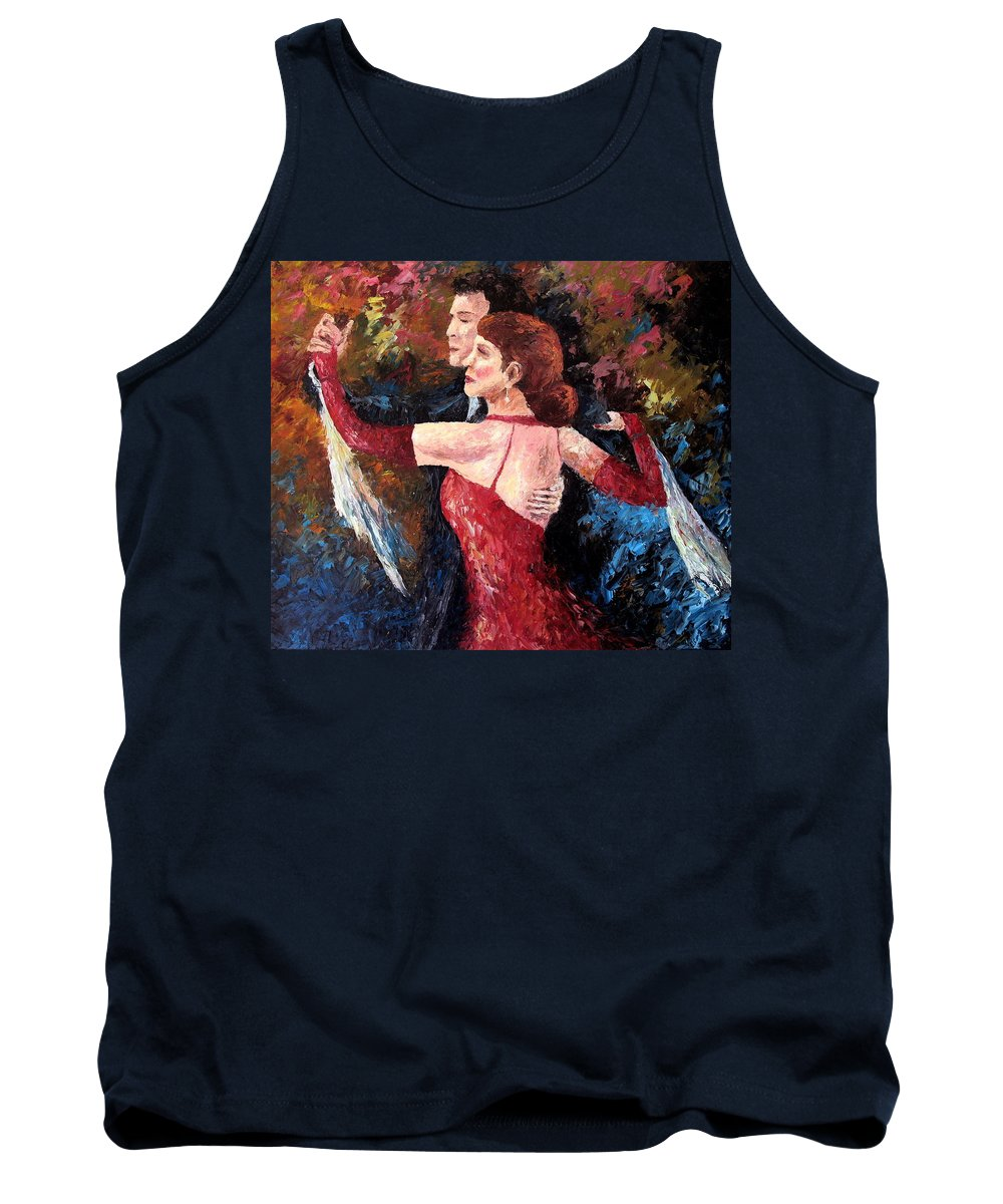 Tango Tank Top featuring the painting Two To Tango by David G Paul