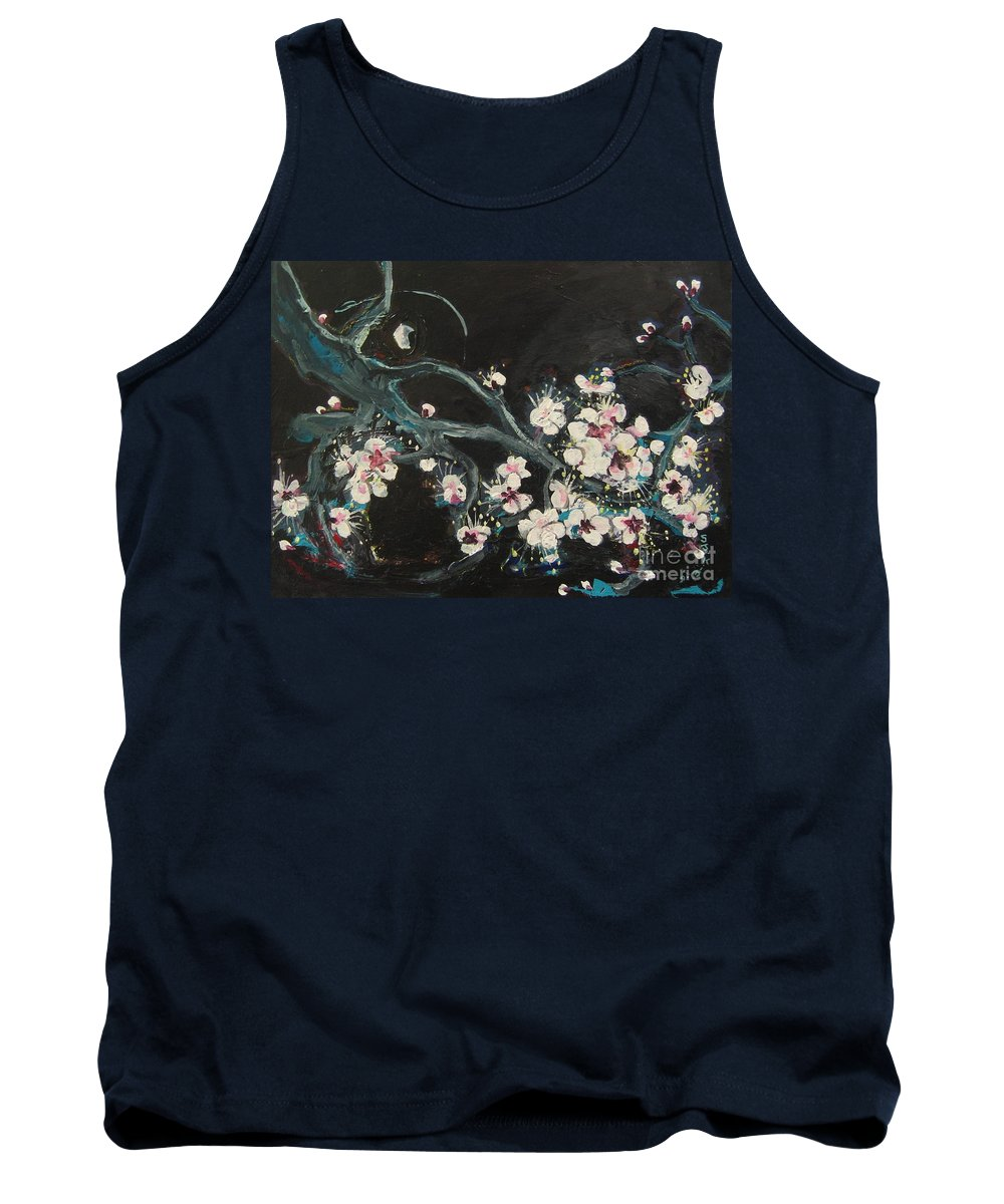 Ume Blossoms Paintings Tank Top featuring the painting Ume Blossoms2 by Seon-Jeong Kim