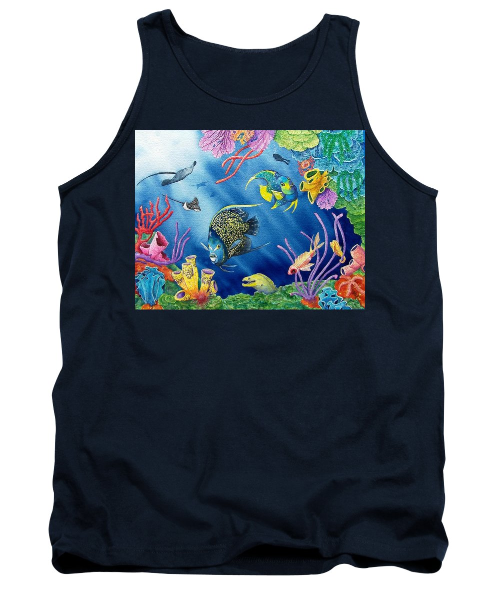 Undersea Tank Top featuring the painting Undersea Garden by Gale Cochran-Smith