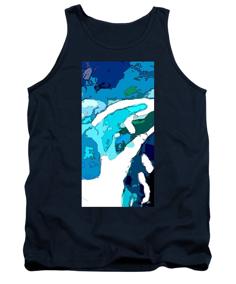 Abstract Tank Top featuring the digital art Unique Aspect by Linda Mears