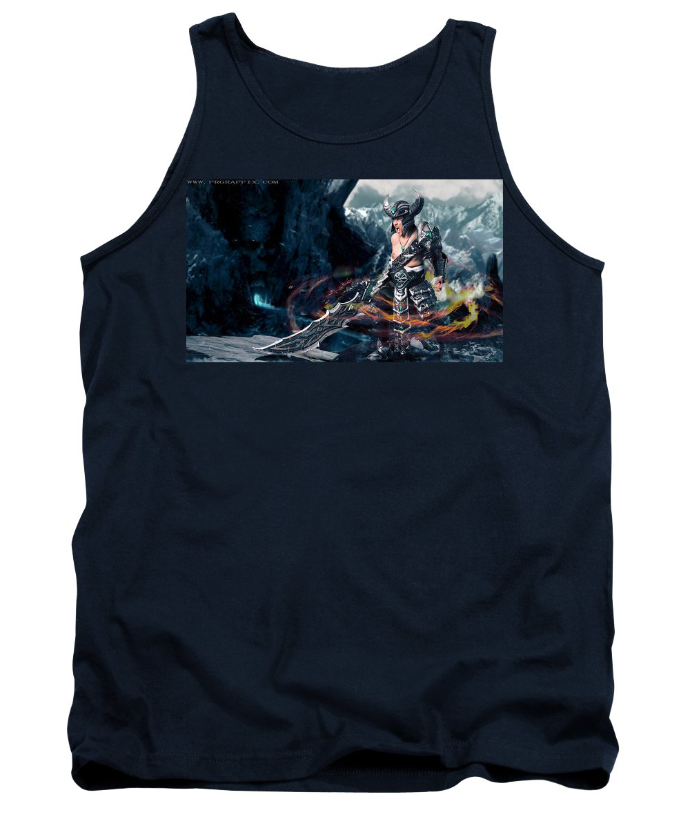 Cosplay Tank Top featuring the photograph Unleashing Bloodlust by Gela Ghaderi