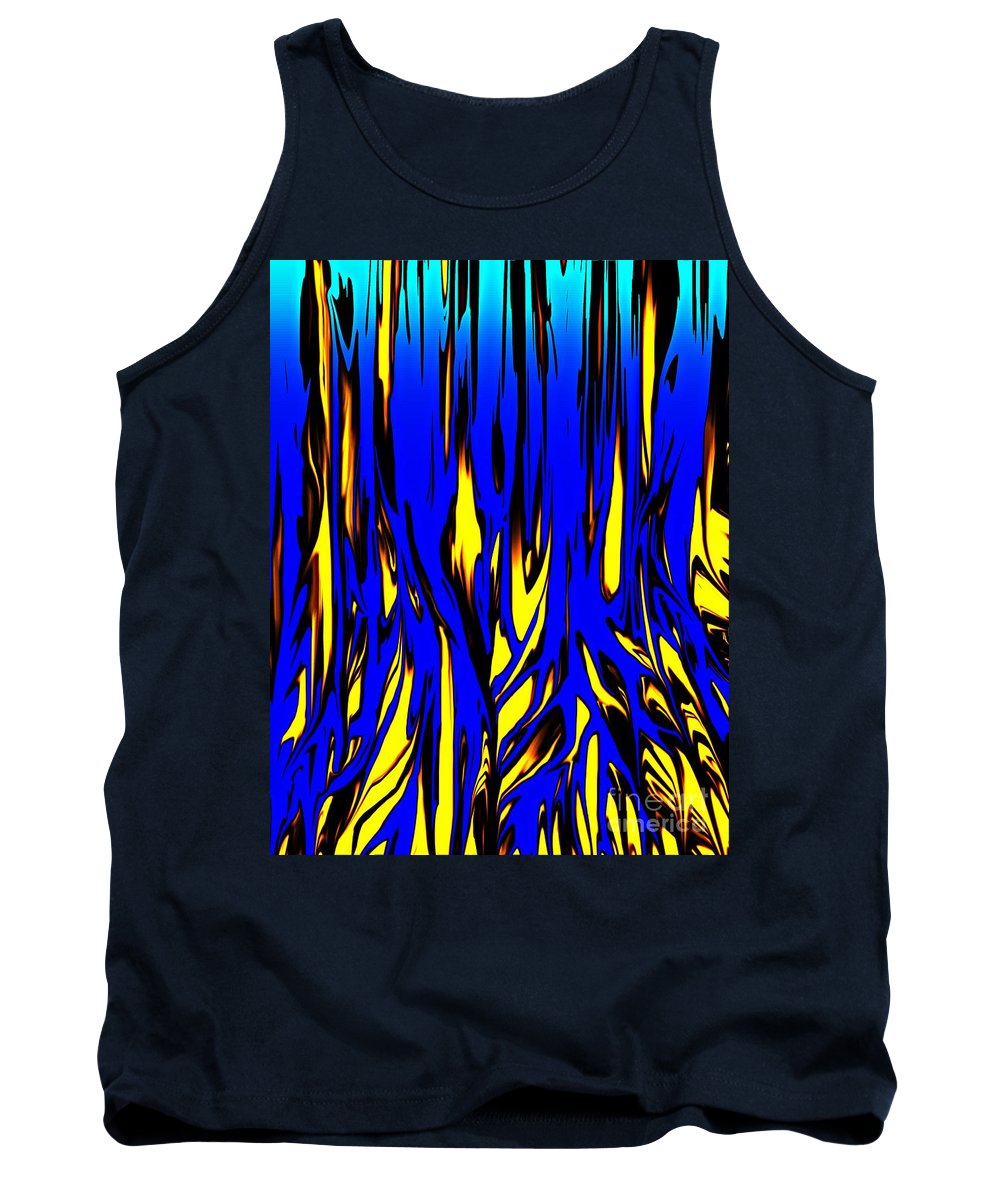 Abstract Tank Top featuring the digital art Untitled 7-21-09 by David Lane