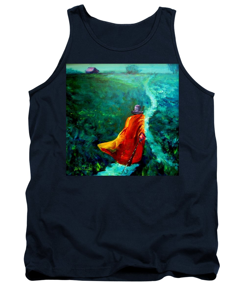 Expressionist Tank Top featuring the painting Up That Hill by Jason Reinhardt