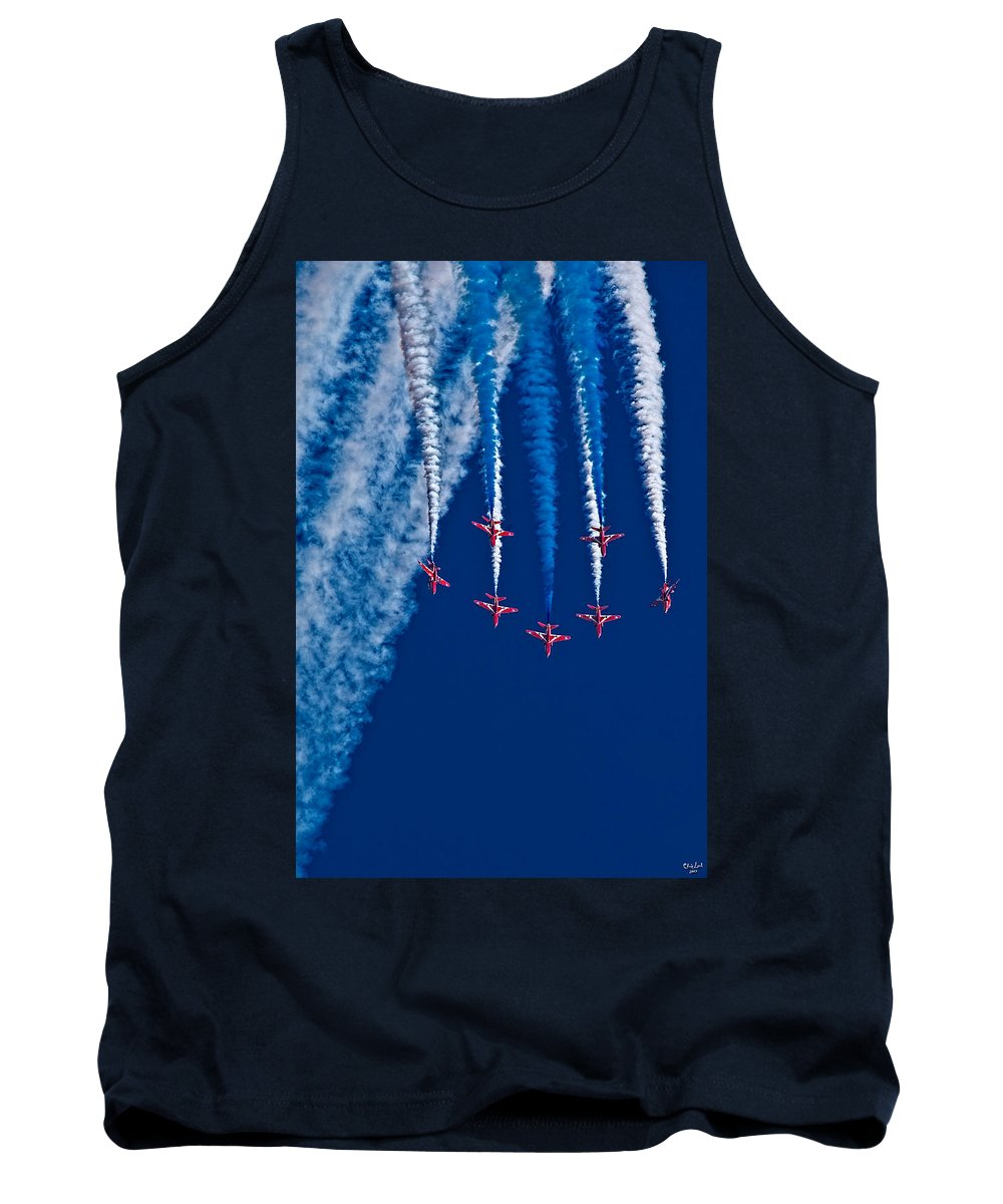 Red Arrows Tank Top featuring the photograph Vaaazooooom by Chris Lord
