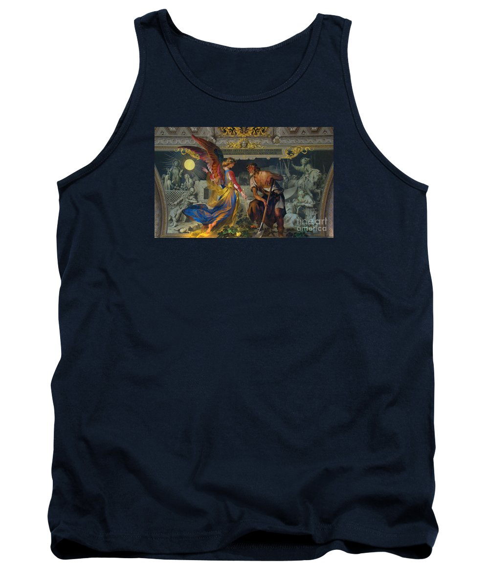 Fresco Tank Top featuring the photograph Vatican Art II by Al Bourassa