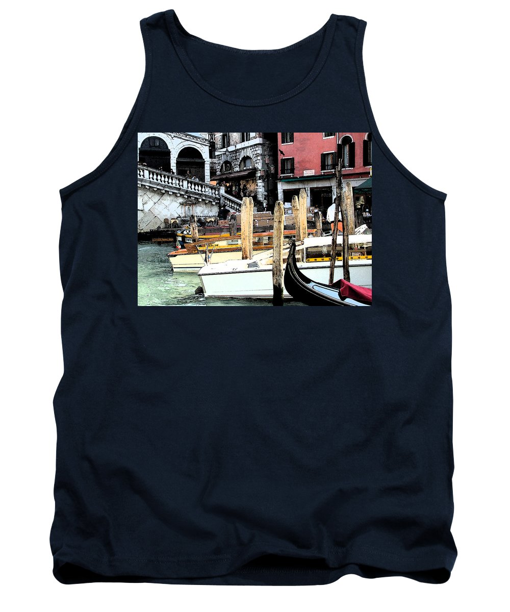 Digital Photography Tank Top featuring the photograph Venice Marina by Mindy Newman
