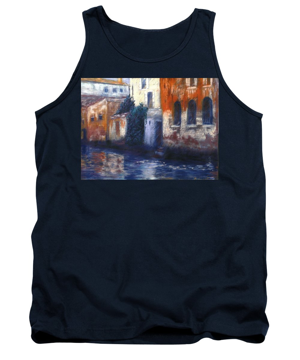 Venice Canals Old World Tank Top featuring the pastel Venice Reflections by Pat Snook