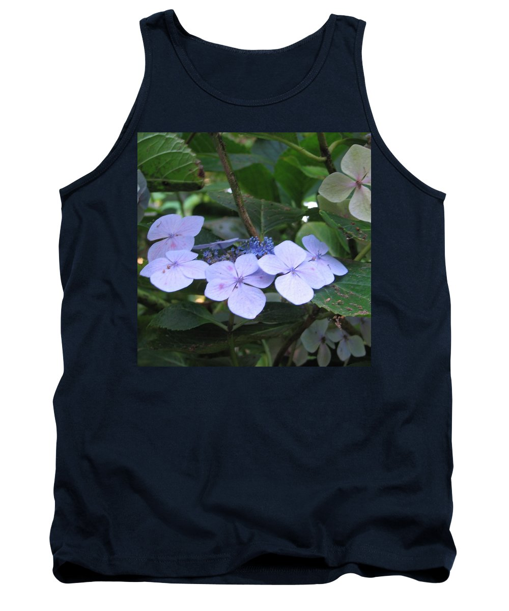 Violets Tank Top featuring the photograph Violets O The Green by Kelly Mezzapelle