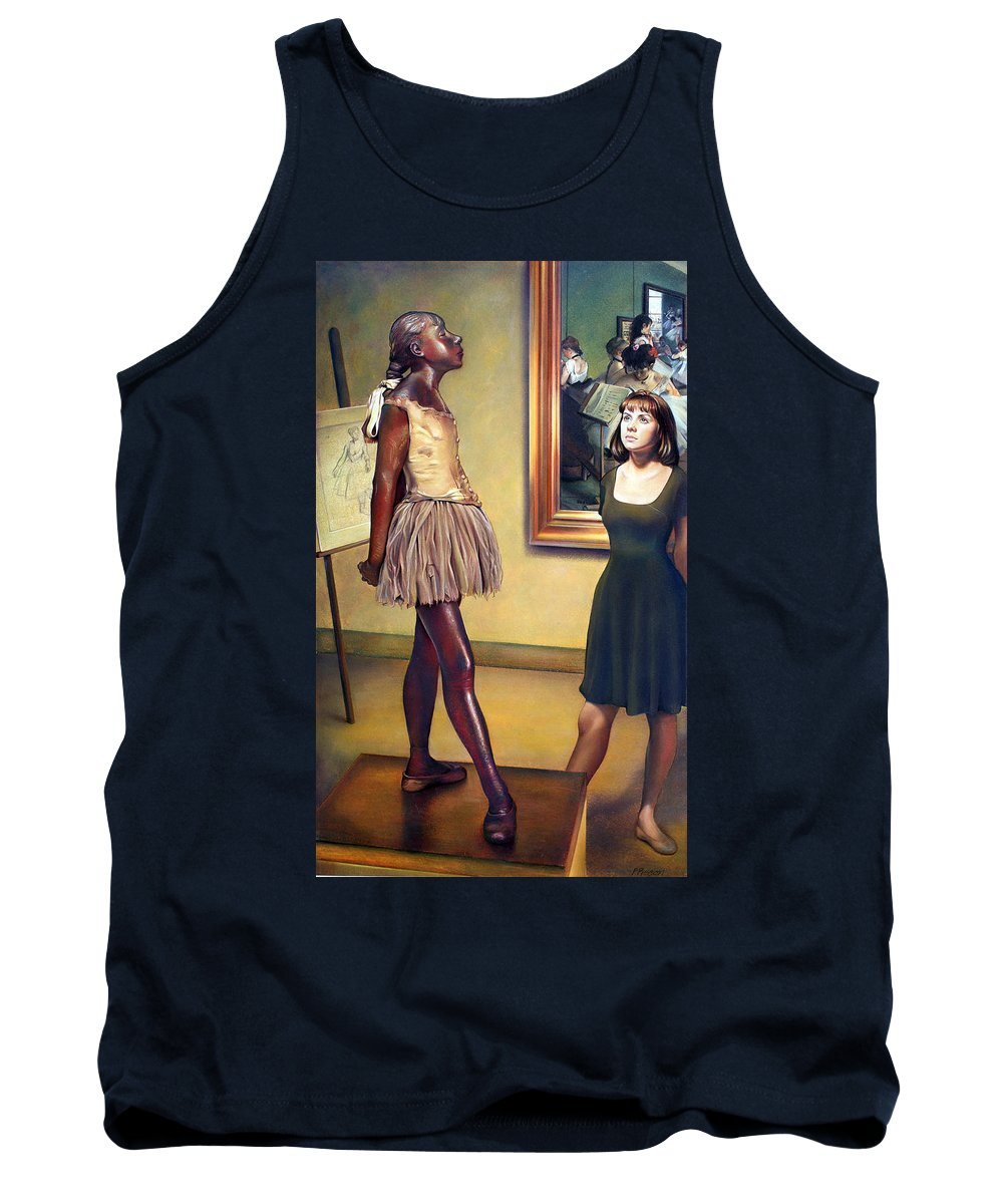 Edgar Degas Tank Top featuring the pastel Visit To The Museum by Patrick Anthony Pierson