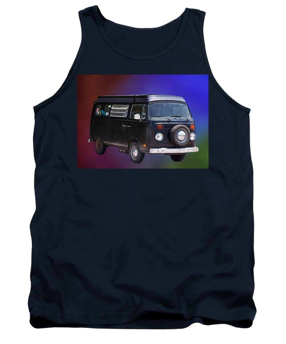 Van Tank Top featuring the photograph Vw Van by Gary Adkins