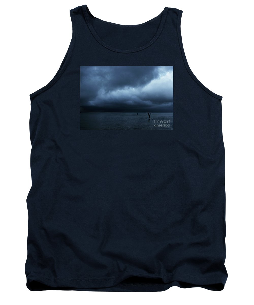 Lake Tank Top featuring the photograph Waiting Out The Storm by Linda Shafer