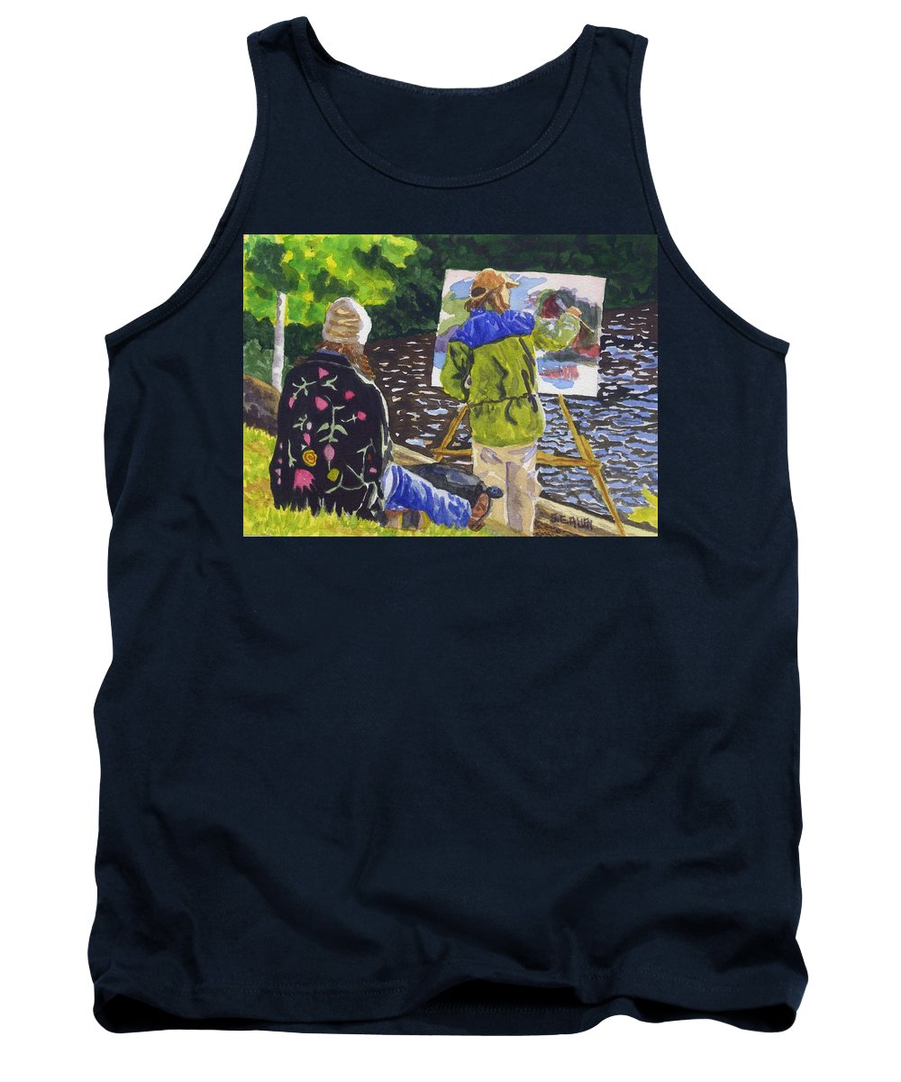 Artist Tank Top featuring the painting Watching The Maestro by Sharon E Allen
