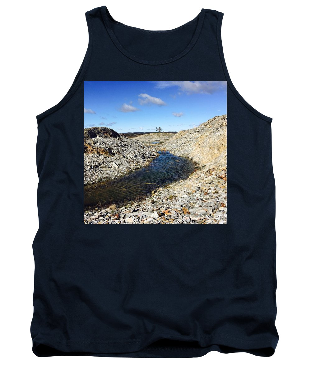 Farm Tank Top featuring the photograph Water At Farm by Harrison Macourt