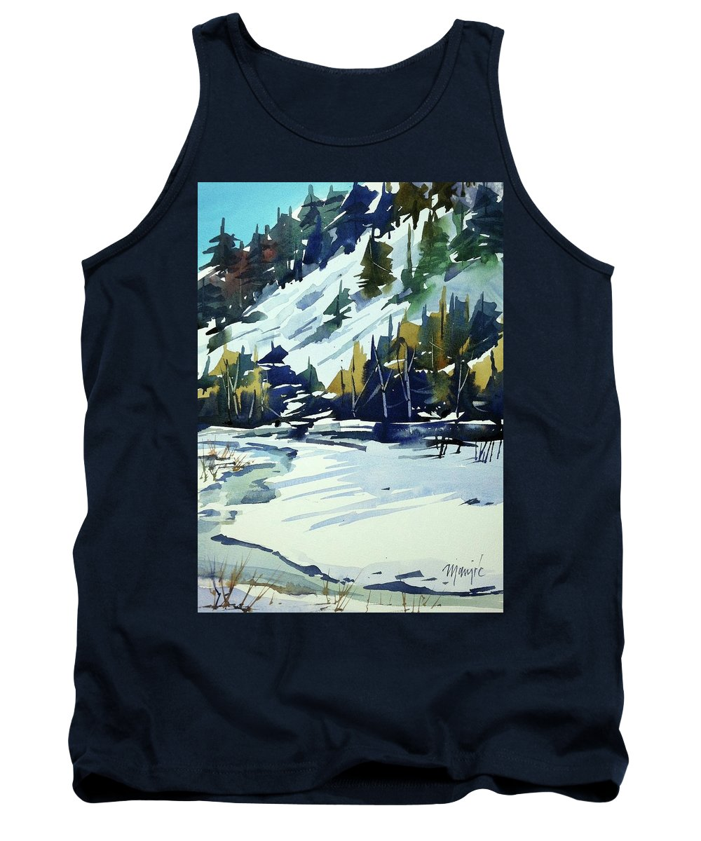 Colorado Landscape Tank Top featuring the painting Watercolor_3517 by Ugljesa Janjic