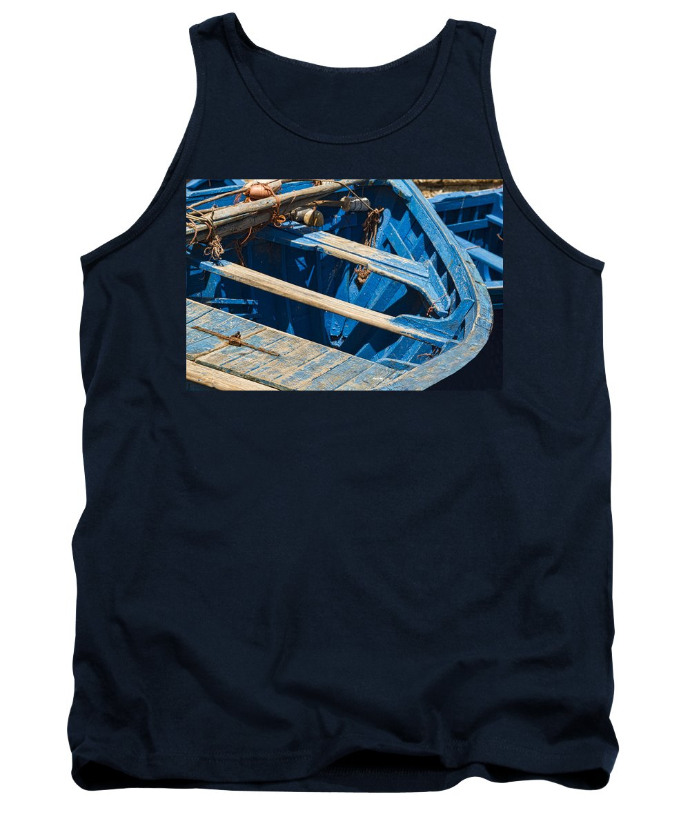 Essaouira Tank Top featuring the photograph Well Used Fishing Boat by Lindley Johnson