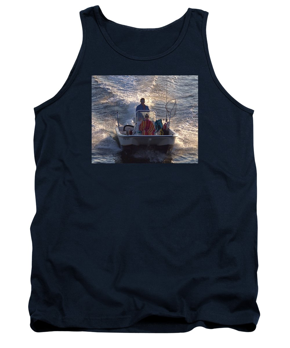 Whaler Tank Top featuring the photograph Whaler by Newwwman
