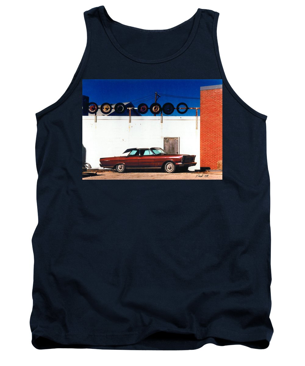 Cars Tank Top featuring the photograph Wheels by Steve Karol