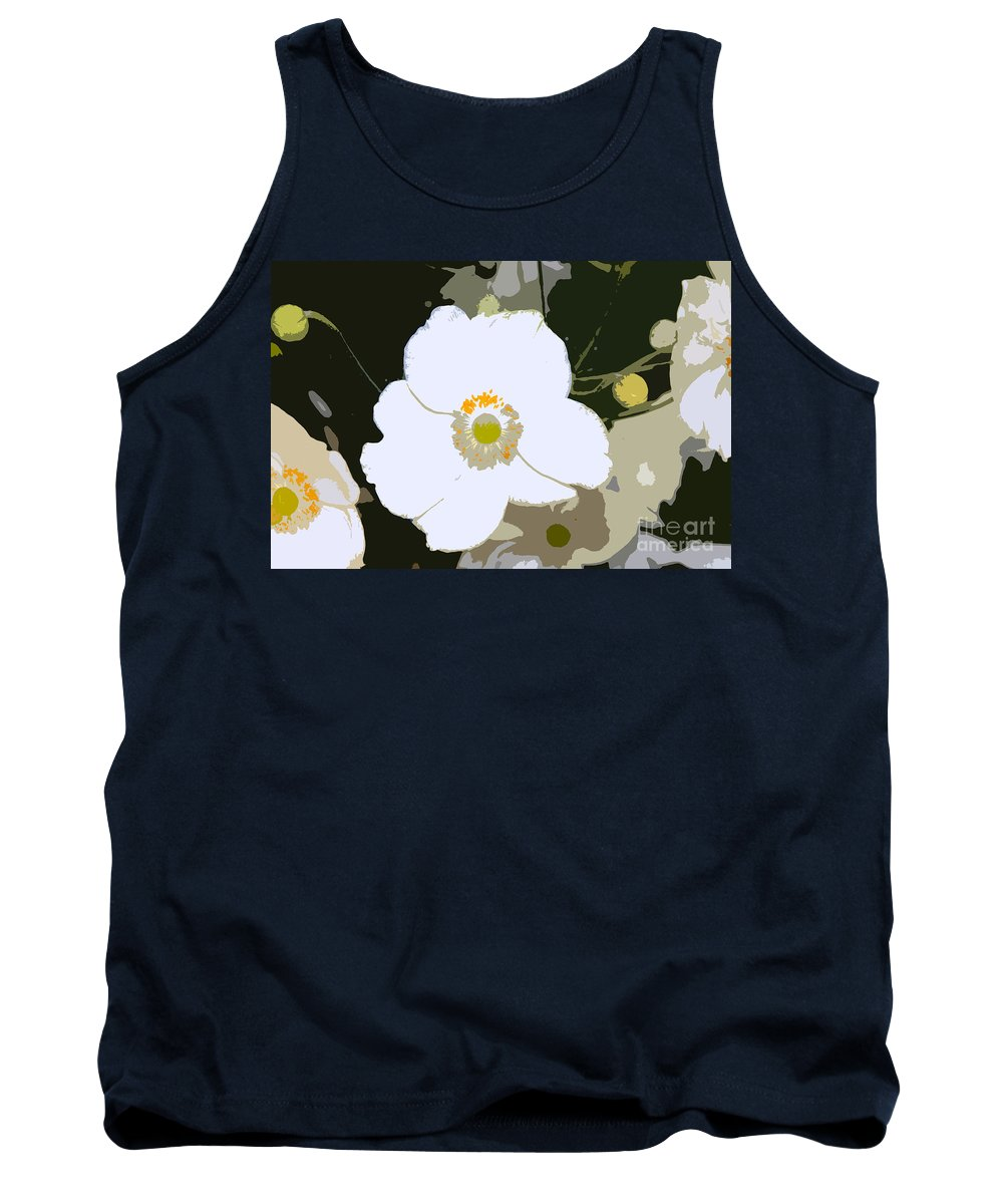Flower Tank Top featuring the photograph White Beauty Work Number 6 by David Lee Thompson