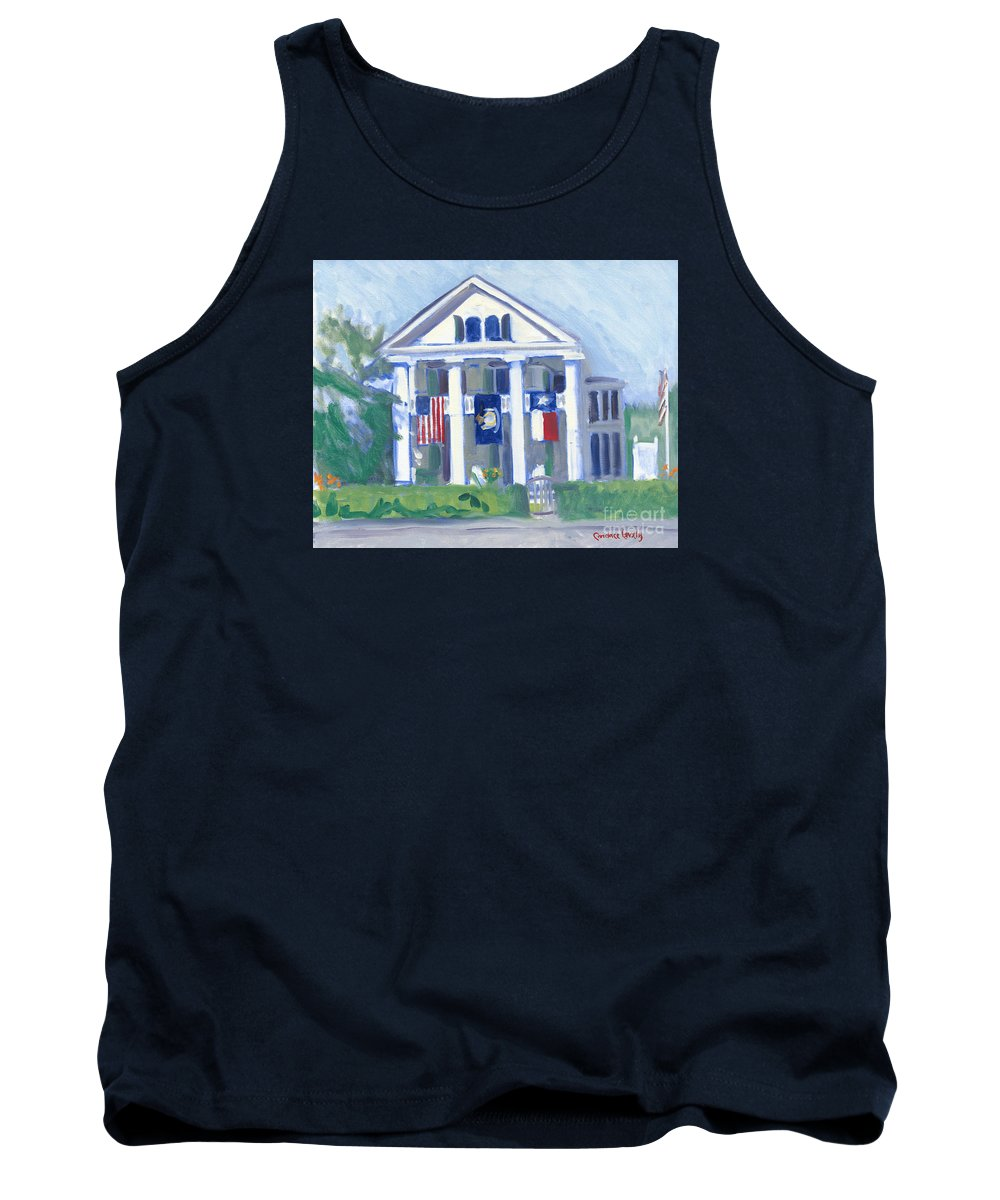 White Columns Tank Top featuring the painting White Columns by Candace Lovely