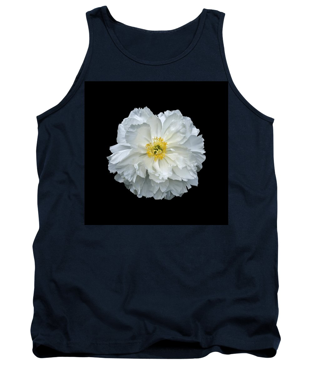 Peonies Tank Top featuring the photograph White Peony by Charles Harden