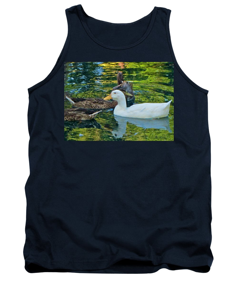 Photograph Tank Top featuring the photograph White Reflection by Gwyn Newcombe