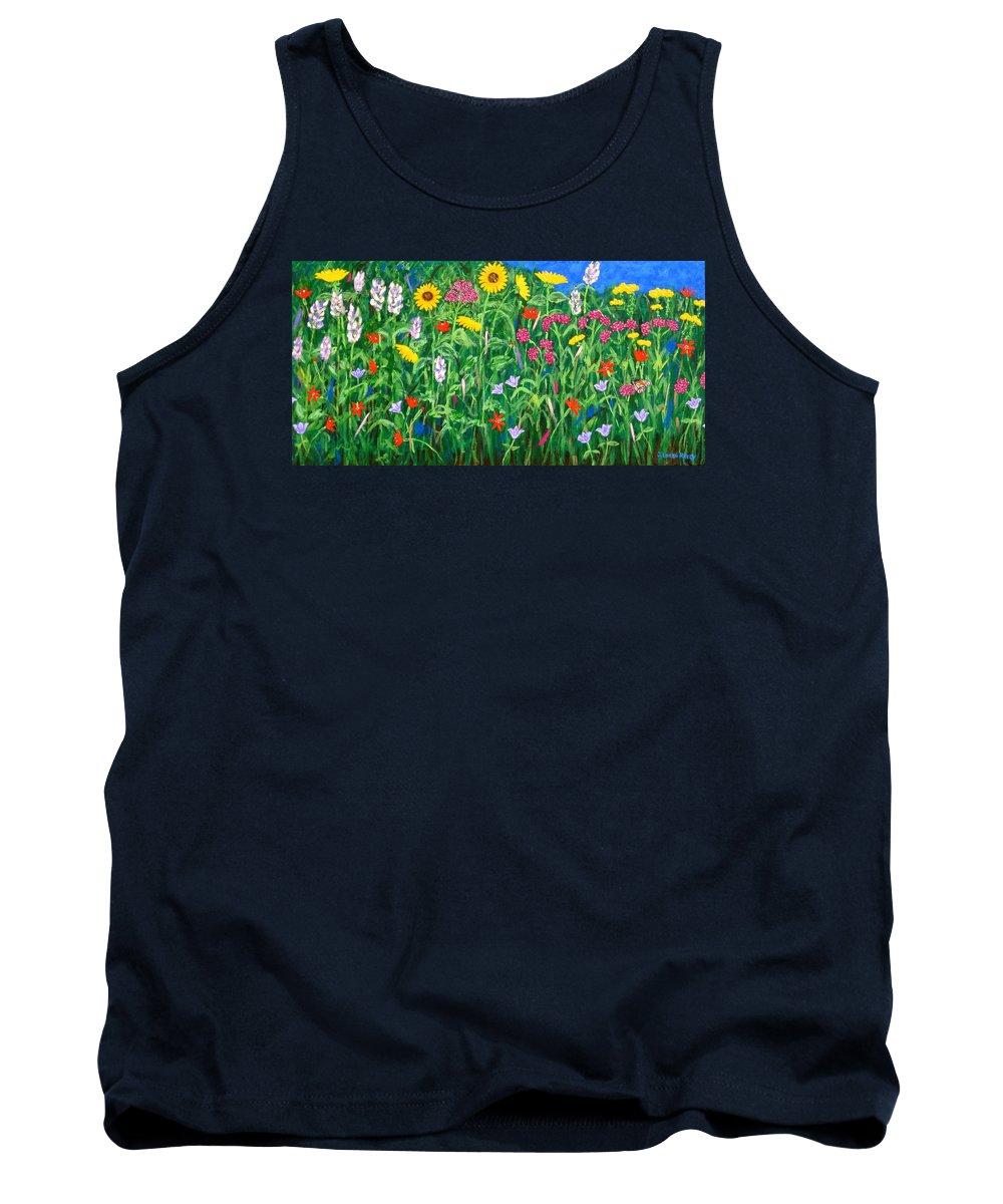 Wildflowers Painting Tank Top featuring the painting Wildflowers by J Loren Reedy