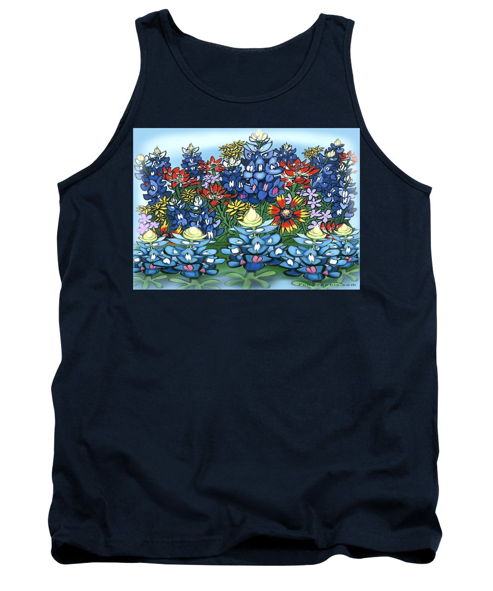 Wildflowers Tank Top featuring the digital art Wildflowers by Kevin Middleton