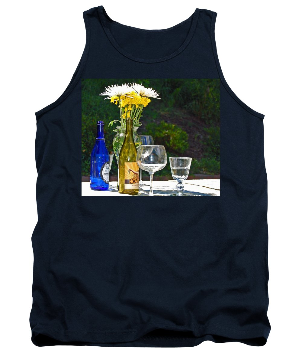 Wine Tank Top featuring the photograph Wine Me Up by Debbi Granruth