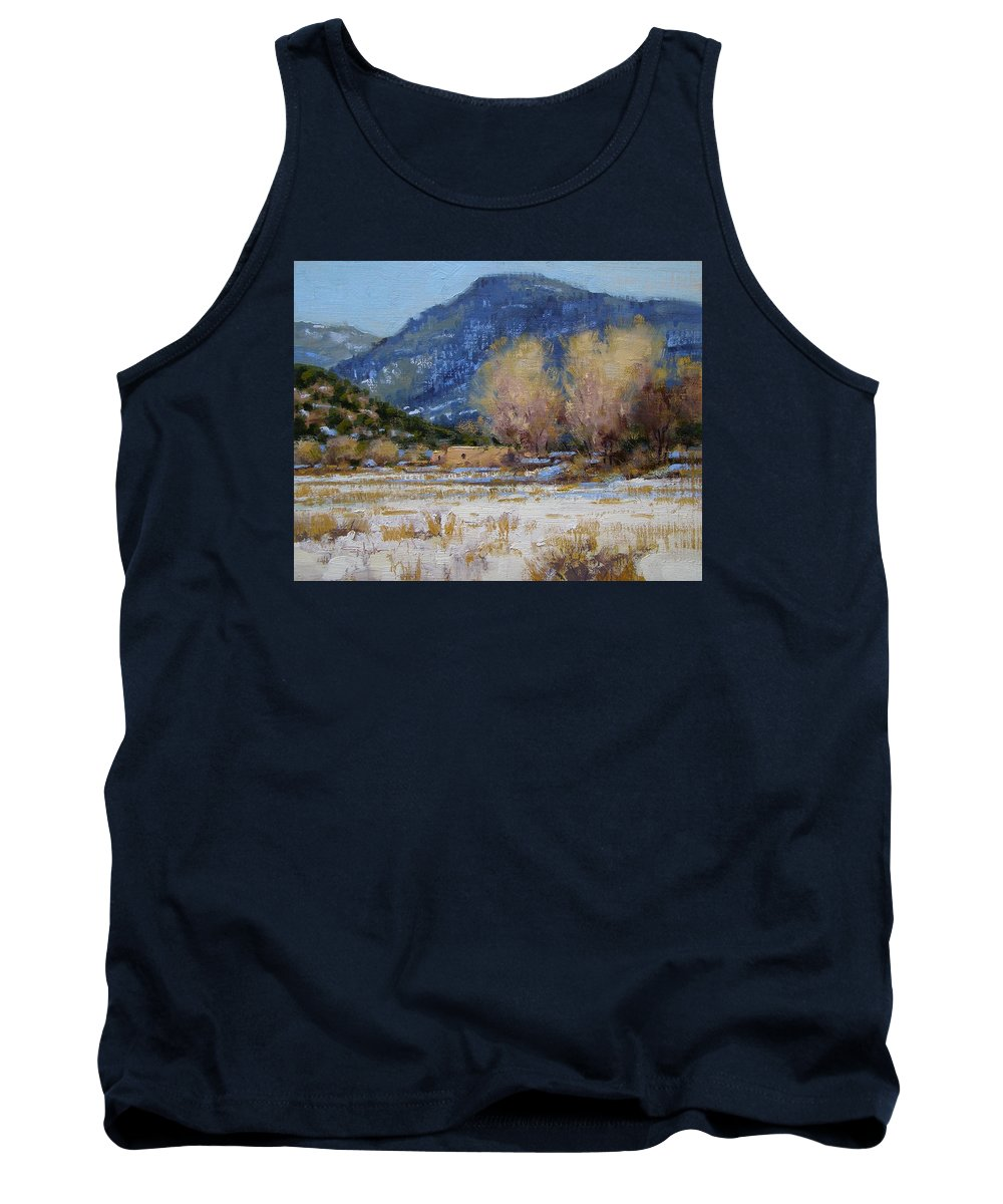 Fineart Tank Top featuring the painting Winter In New Mexico by Spike Ress