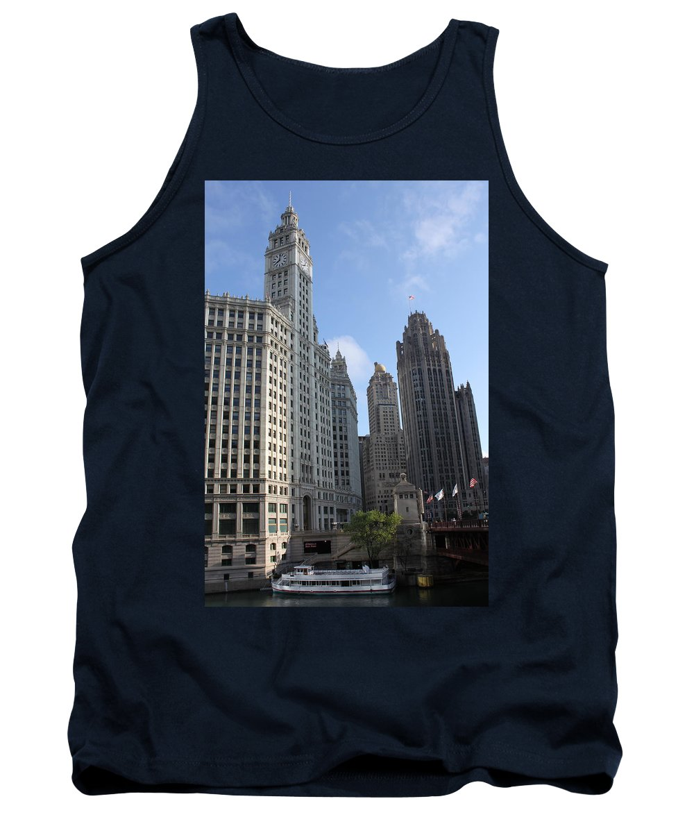 Chicago Tank Top featuring the photograph Wrigley And Tribune Tower by Lauri Novak