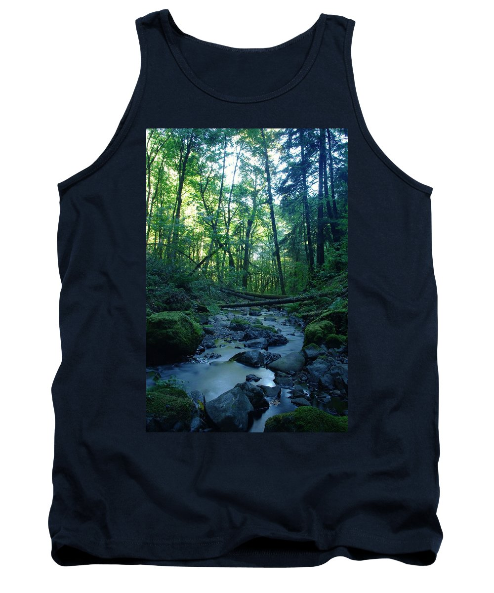 Water Tank Top featuring the photograph Wyeth Creek by Jeff Swan