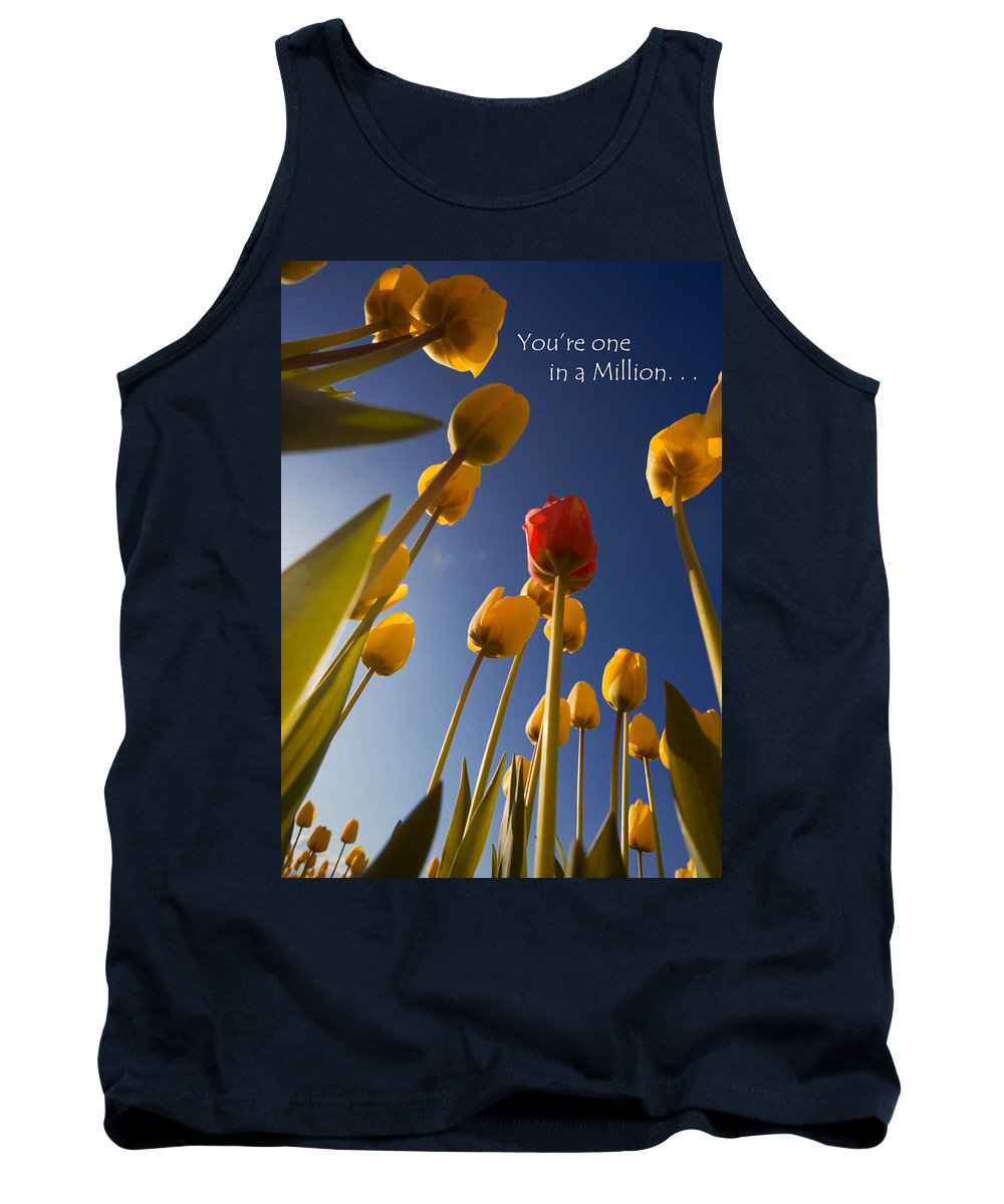Flower Tank Top featuring the photograph You Are One In A Million by Karen Ulvestad