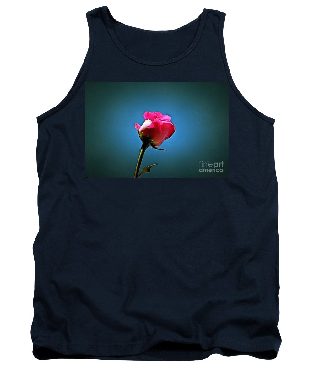 Rose Tank Top featuring the photograph You Are The One by Krissy Katsimbras