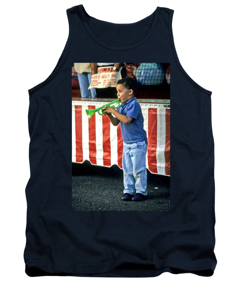 Young Musician Tank Top featuring the photograph Young Musician by Laurie Paci